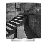 Fort Casey Steps 3939 Shower Curtain