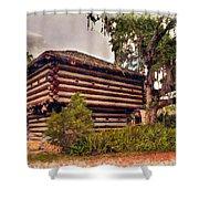 Fort Christmas Florida Shower Curtain