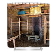 Fort Clatsop Living Quarters Shower Curtain