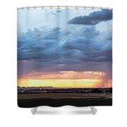 Fort Collins Colorado Sunset Lightning Storm Shower Curtain