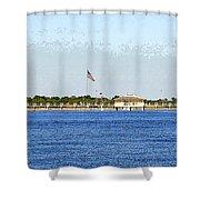 Fort Desoto South Pier Shower Curtain