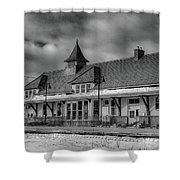 Fort Edward Train Station Shower Curtain