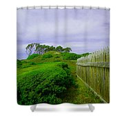 Fort Fisher Terrain Shower Curtain