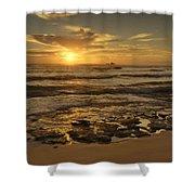 Fort Haze Beach Shower Curtain