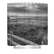 Fort Hill Bw Shower Curtain