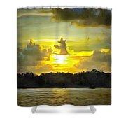 Fort Island Trail Sunset Shower Curtain