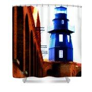 Fort Jefferson Lighthouse Shower Curtain