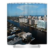 Fort Lauderdale Aerial Photography Shower Curtain