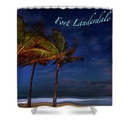 Fort Lauderdale Beach Greeting Shower Curtain