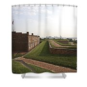 Fort Mchenry Earthworks And Barracks In Baltimore Maryland Shower Curtain