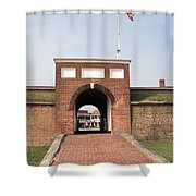 Fort Mchenry Gate In Baltimore Maryland Shower Curtain