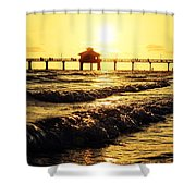 Fort Myers Pier Shower Curtain