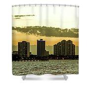 Fort Myers Skyline Shower Curtain