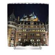 Fort  Of Quebec City At Night Shower Curtain