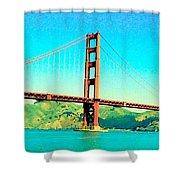 Fort Point Golden Gate Bridge Shower Curtain