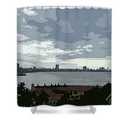 Fort River City Art Shower Curtain