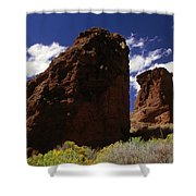Fort Rock Twin Towers- H Shower Curtain