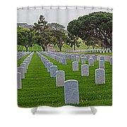 Fort Rosencrans National Cemetery Shower Curtain