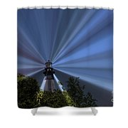 Fort Story Lighthouse Shower Curtain
