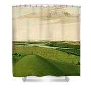 Fort Union Mouth Of The Yellowstone River 2000 Miles Above St Louis Shower Curtain