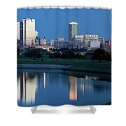 Fort Worth Blue 062217 Shower Curtain