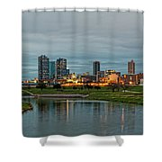 Fort Worth Color Shower Curtain by Jonathan Davison