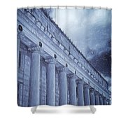 Fort Worth Impressions Post Office Shower Curtain
