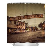 Fort Worth Impressions Stockyards Shower Curtain