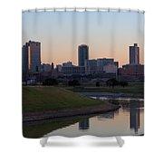 Fort Worth Skyline At Sunset Shower Curtain