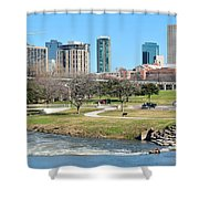 Fort Worth Trinity Park Shower Curtain