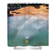 Fort Worth Water Gardens - Aerated Pool Shower Curtain