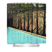 Fort Worth Water Gardens - Quiet Pool Shower Curtain