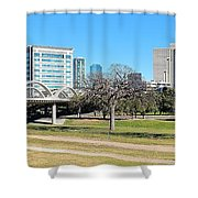 Fort Worth Wide Angle Shower Curtain