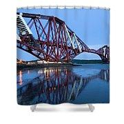 Forth Railway Bridge In Edinburg Scotland  Shower Curtain