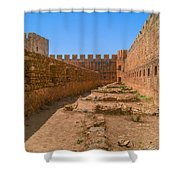 Fortress In Frangokastello Shower Curtain