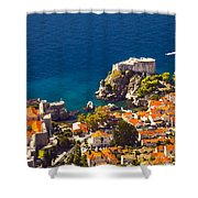 Fortress Of Dubrovnik From Above Shower Curtain
