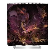 Fortress Of The Mind - Fractal Art Shower Curtain