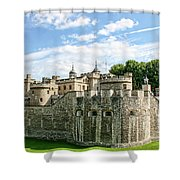 Fortress Of The Tower Of London Shower Curtain