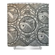 Fortune Fish Shower Curtain