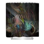 Fortune Willing - Fractal Art Shower Curtain