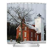 Forty Mile Point Lighthouse Shower Curtain