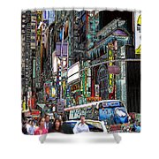 Forty Second And Eighth Ave N Y C Shower Curtain