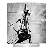 Forward Crow's Nest Shower Curtain