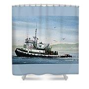 Foss Tugboat Martha Foss Shower Curtain