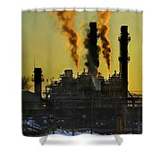 Fossil Fuels Shower Curtain