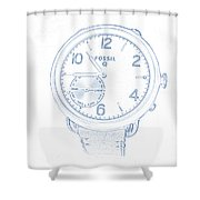 Fossil Q 5 Shower Curtain