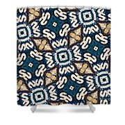 Fossil Road Mosaic Shower Curtain