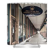 Foster Building In Clifton Springs Shower Curtain