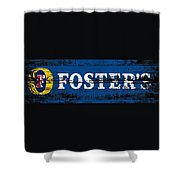 Fosters Beer Sign 3a Shower Curtain