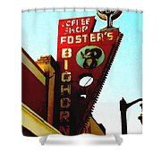 Foster's Bighorn Cafe Shower Curtain
